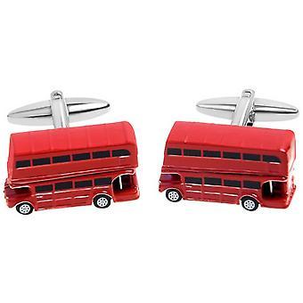 Zennor London buss manschettknappar - röd/svart/vit