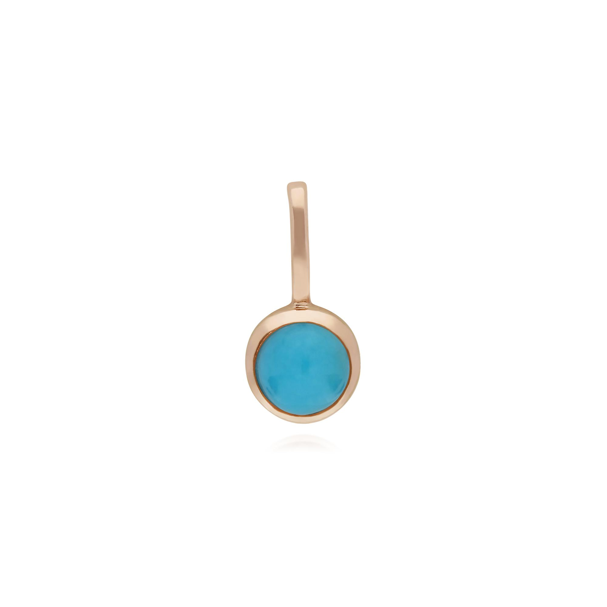 Gemondo Rose Gold Plated Sterling Silver Turquoise Charm