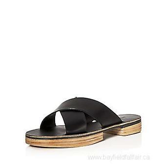 Freda Salvador Cruz Womens couro aberto Toe Slide Casual sandálias