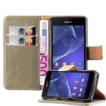 Futerał Cadorabo do obudowy Sony Xperia Z1 Compact - Etui na telefon z magnetycznym zapięciem, funkcją stojaka i komorą na kartę - Obudowa ochronna Case Book Folding Style