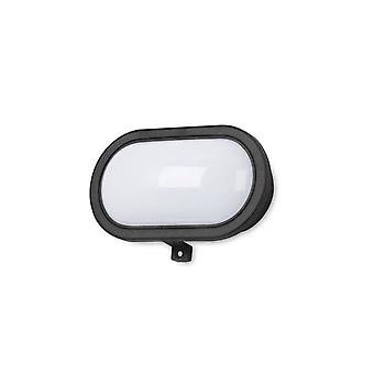 Forlight - montaje en superficie exterior Oval negro Flash LED luz PX-0136-NEG