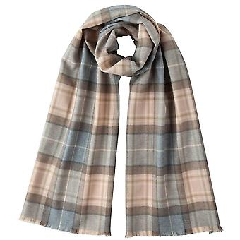 Johnstons voor Elgin natuurlijke Mackellar Extra fijne Tartan sjaal - Beige/grijs