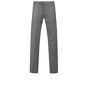 Dobell Mens Tuxedo carbone pantaloni Slim Fit raso lato striscia