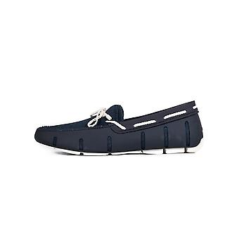 Swims Navy & White Braided Lace Loafer