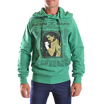 John Galliano Ezbc164006 Men's Green Cotton Sweatshirt