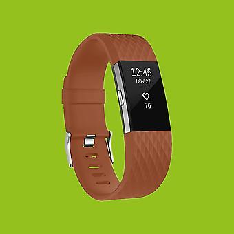 Per plastica batch 2 Fitbit / braccialetto del silicone per gli uomini / size L Brown watch