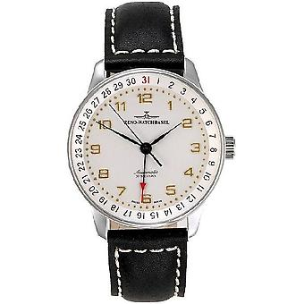 Zeno-relógio X-grande ponteiro retrô data Black watch P554Z-f2