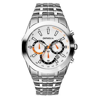 ORPHELIA Mens Chronograph Watch rijden zilver roestvrij staal 153-7901-88