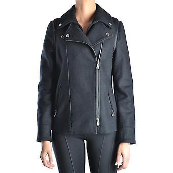 Guess Ezbc239001 Damen's schwarze Wolle Outerwear Jacke