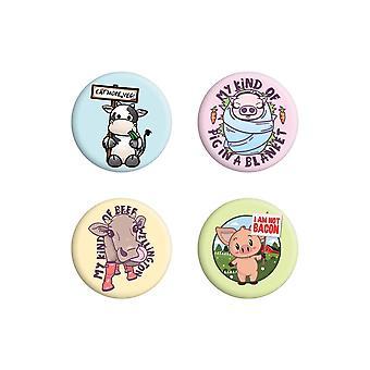Grindstore Eat More Veg Badge Pack