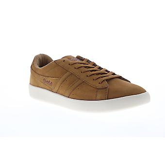 Gola Aztec Nubuck  Mens Brown Retro Low Top Lifestyle Sneakers Shoes