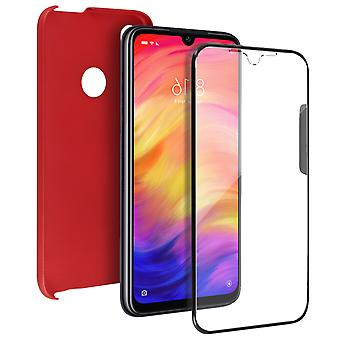Silicone case + back cover in polycarbonate for Xiaomi Redmi Note 7 - Red
