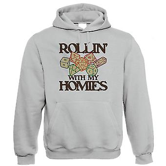 Rollin With My Homies Hoodie | Paladin Kingmaker Rogues Knight Tower Shield Magic | Dungeons Dragon D&D DND Pathfinder 3.5 Tarrasque | Geek Gift Him Her Birthday