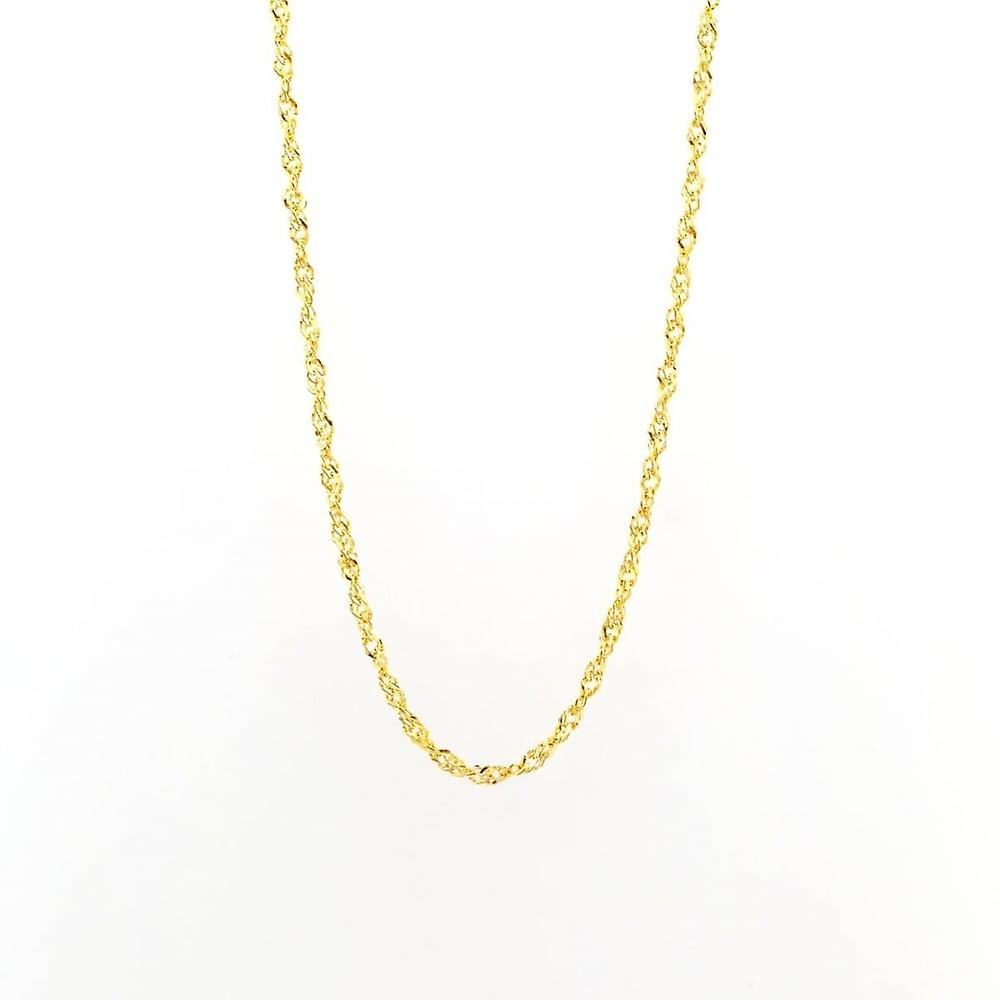 Eternity 9ct Gold 18'' Singapore Chain