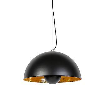 QAZQA Pendelleuchte Lampe Magna 50 schwarz und Gold