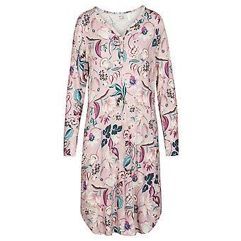 Rosch 1193588-16400 Kobiety's New Romance Pink Floral Cotton Nightdress