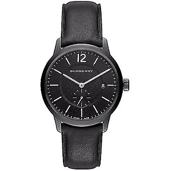 Burberry Bu10003 noir bracelet en cuir montre homme