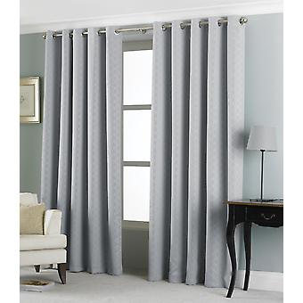 Country Club Eden Jacquard Curtains 66 x 72, Silver