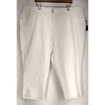 الفاني حزام الحلقات جيوب زر والرمز البريدي إغلاق السراويل النساء البيض