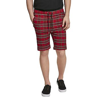 Urban Classics - TARTEN Stretch Shorts Red / Black