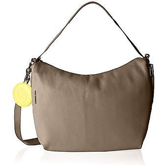 Mandarin Duck Mellow Leather Crossbody Bag Grey Woman Bag (Simply Taupe) 9x30x36 centimeters (B x H x T)