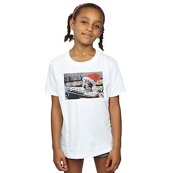 Gremlins Girls Mogwai Christmas Hat T-Shirt
