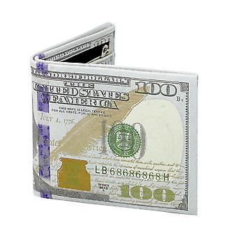 Monedero Dollarbill nuevo diseño con impresión interior verde / crema, 100% poliuretano.