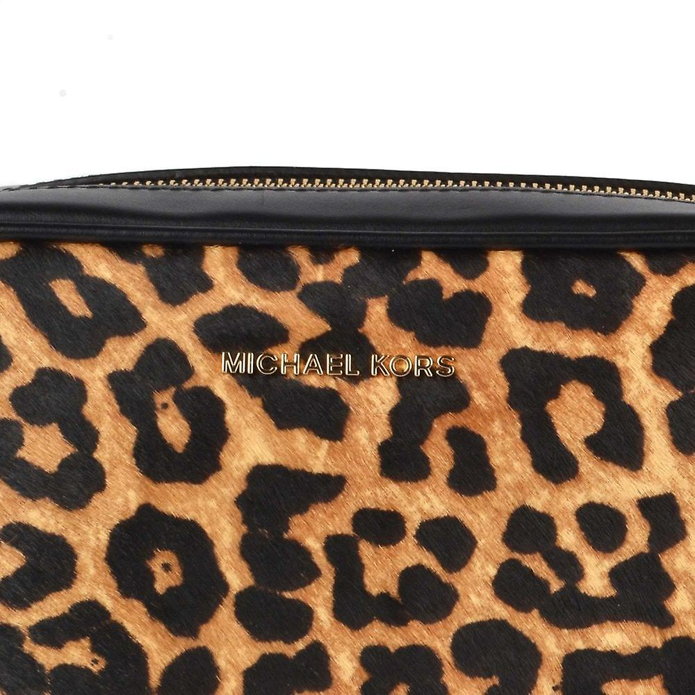 MICHAEL von Michael Kors Leopard Print Kalb Haar Kamera Crossbody Tasche
