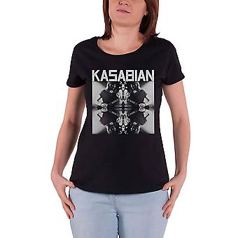 Kasabian T Shirt Solo Reflect Band Logo new Official Womens Skinny Fit Black