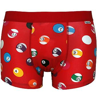 Happy Socks Pool Balls Boxer Trunk, Red