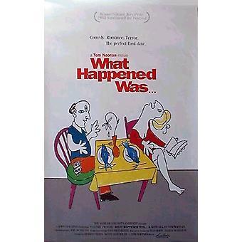 Quello che è successo è stato (1994) Poster originale del cinema