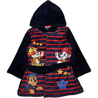 Boys HS2159 Paw Patrol Hooded Coral Fleece Dressing Gown