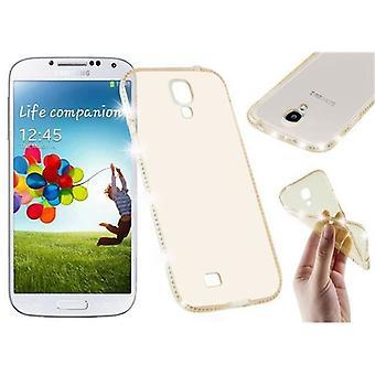 Cadorabo kotelo Samsung Galaxy S4 kotelon kansi-TPU silikoni Puhelin kotelo tekojalokivi suunnittelu-silikoni kotelo suoja kotelo erittäin ohut pehmeä takakannen kotelo puskuri