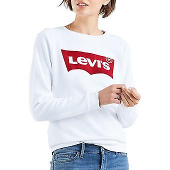 Levi ' s vrouwen ' s ontspannen grafische Sweatshirt wit 40