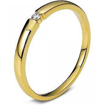 Diamond ring - 18K 750/- Yellow gold - 0.06 ct. Size 54