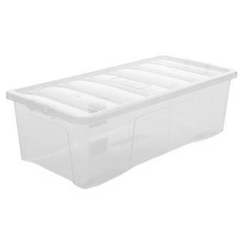 Wham Aufbewahrungspackung von 3 - 62 Liter Kristall Kunststoff Aufbewahrungsboxen mit Deckeln