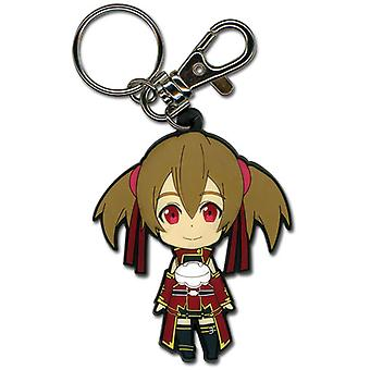 Key Chain - Sword Art Online - Chibi Silica Closed Mouth Smile New Toys ge36637