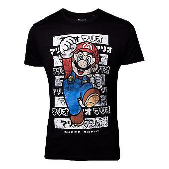 Super Mario Mario Kanto T-Shirt schwarz männlich klein (TS158430NTN-S)