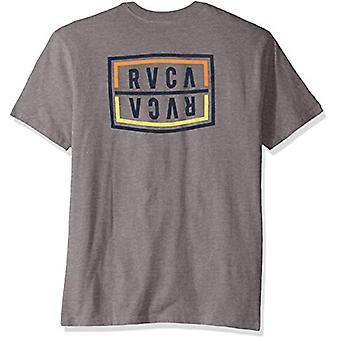 RVCA Boys' Big FLIP Corpo Short Sleeve Crew Neck T-Shirt, Grey Noise, M