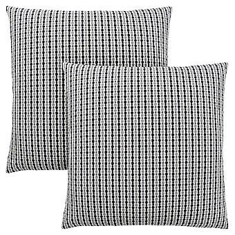 "18"" x 18"" Light Grey/Black, Abstract Dot - Pillow 2pcs"