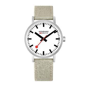 Mondaine Classic Grey Canvas Strap 40mm Mens Watch A660.30360.16SBG