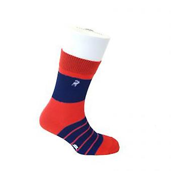 TYLER & TYLER Single Stripe Thick Rich Cotton Mens Socks