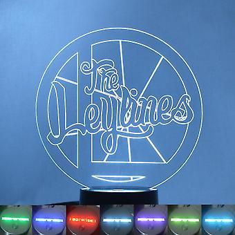 Leylines koło Logo i nazwa kolor zmiana światła LED akrylowe