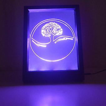 Tree of Life Circle Colour Changing RC LED Mirror Light Frame