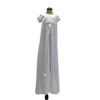 Dopklänning Grace Of Sweden, Stilren Med Vit Bred Rosett  Pr.ka