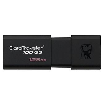 Pendrive Kingston 128GB preto DT100G3