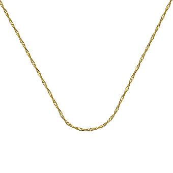 14k Yellow Gold 1.15mm Singapore Chain Necklace Lobster Claw Closure Jewelry Gifts for Women - Length: 16 to 24