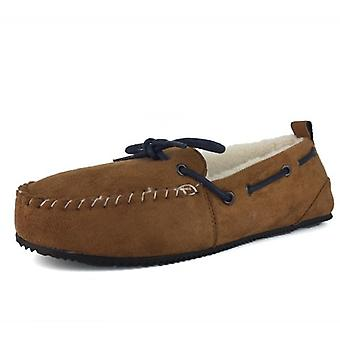 Superdry Clinton Moccasin Slipper Tan Brown 20O