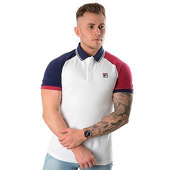 Fila Apollo Lm911282 Vintage Raglan Polo T-shirt - Blanc