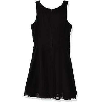 Amy Byer Girls' Big Simply Elegant Sleeveless Chiffon Dress, Black, 8